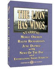 The Lion Has Wings - Ralph Richardson & Merle Oberon + Extras on DVD! Region 1