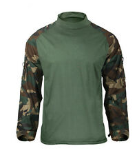 Woodland Olive Drab Camo Combat Uniform Shirt by ROTHCO 90025 - XL REGULAR