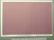 N gauge (1:160 scale) red roof tile self adhesive vinyl - A4 sheet (297X210mm)