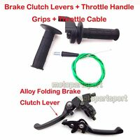 Brake Lever Throttle Cable Hand Grips For 110 125 150 cc SSR CRF50 Pit Dirt Bike