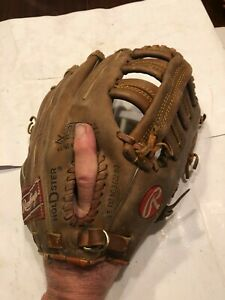 """VINTAGE LARGE RAWLINGS """"WADE  BOGGS"""" FASTBACK BASEBALL GLOVE #RSG 9T, EX+, WOW!"""