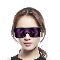 Unisex LED Glasses Glow Light Up Flashing Festival Xmas Party Sunglasses Decor