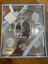 Baby Essentials - My First Year - Silver Baby Frame