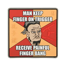 "NEW Maxpedition ""Finger Bang"" - Full Color- Velcro-backed Morale Patch"