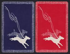 2 Single Vintage Swap/Playing Cards Dog Terrier Dogs Leads 'Shadow Lawn Dt-8-31