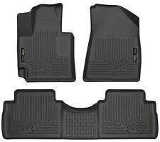 Husky Liners WeatherBeater Floor Mats - 3pc - 99611 - Fits Kia Soul 14-17-Black