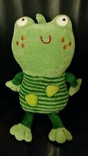 NinoIdeas Frog Plush with Sounds Nino Ideas Stuffed Animal Doll Cute Green