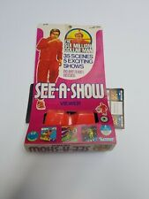 1975 Six Million Dollar Man See-A-Show Viewer w/Box & Slides Kenner