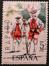 Sello de España 1975 5Pta uniformes militares utilizados