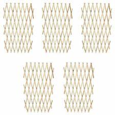 Vidaxl valla enrejada 5 piezas madera maciza 180x90 cm
