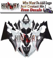 Bodywork White Black For Yamaha YZF R6 08-15 YZF-R6 ABS Fairings Kit Injection F