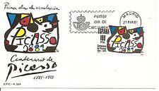 ESPAÑA SOBRE 1º DÍA 1981 2609 Homenaje Picasso MNH **