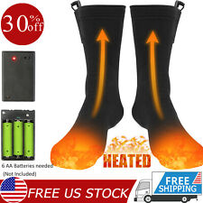 Electric Heated Socks Rechargeable Battery 4.5V Feet Winter Warm Skiing Hunting