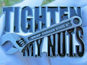 Spanner belt buckle amusing buckle tighten my nuts.