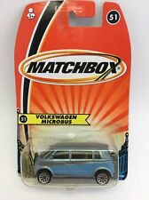 (AE) Matchbox #51 VOLKSWAGEN MICROBUS BLUE VW Bus; Free US Shipping