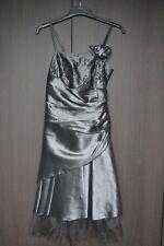 Robe grise de cérémonie/cocktail femme - taille 38