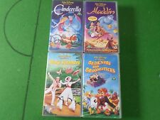 JOB LOT - 4 x WALT DISNEY VIDEO -MARY POPPINS CINDERELLA ALADDIN BEDKNOBS & BRO
