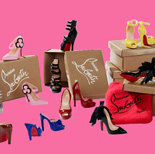 CHRISTIAN LOUBOUTIN SHOE COLLECTION 2010 Gold Label Designer Barbie_T2159_NRFB