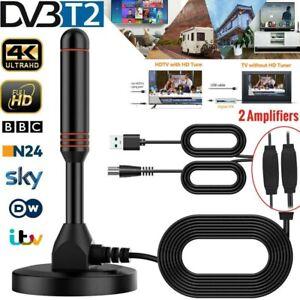 30DBi DVB-T2 HD Stabantenne Antenne mit 2 Verstärker USB Stick für TV PC Laptop
