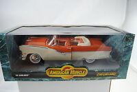 1:18 Ertl - 1956 Ford Sunliner NARANJA/blanco #7259 - Rareza NUEVO / CAJA ORIG.