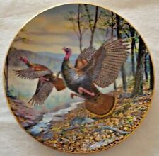 """Collector Plate, Danbury Mint Turkey Trot collection, Spring Wings, 8"""""""