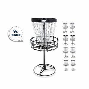 Bundle 7 - 9 Mini Disc Golf Basket by RAD