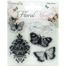 Floral Muse, Clear Unmounted Rubber Stamps Set TRIMCRAFT - New, DCSTP061