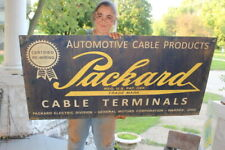 """Large Packard Automotive Battery Cables Chevrolet GM Gas Oil 48"""" Metal Sign"""