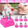 7Pcs/set Acrylic Cuticle Nails File Burr Bit Ceramic Nail Drill Bits Set Tool AU