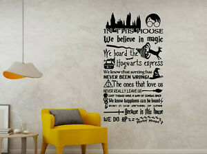In This House We Do Magic Harry Potter Quote's Murals Wall Stickers Art Decals