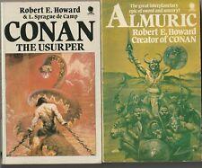 ROBERT E. HOWARD - ALMURIC / CONAN THE USURPER paperback editions - Frazetta