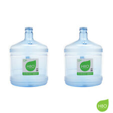 H8O® 3 Gallon Polycarbonate Stubby Water Bottle w/Handle (2 Piece Pack)