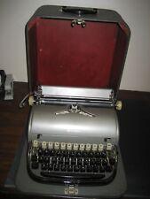 Refurbished Remington Manual Typewriter, Gray metal, w/hard case w/warranty