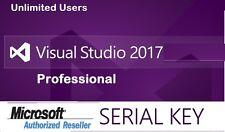 MS Visual Studio 2017 Professional  License Key Lifetime -Sale RRP $159***