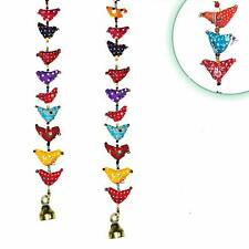 Traditional Decorative Bird Wall & Door Hangings with Beads & Brass Bell Strings