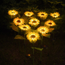 10LED Outdoor Sunflower Solar Light 2 Pack Landscape Lamp for Garden Yard Patio