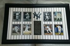"NY YANKEES CAPTAINS DISPLAY; LEGACY IN POWER BRONX BOMBERS 29.5"" x 18"" BLACK"