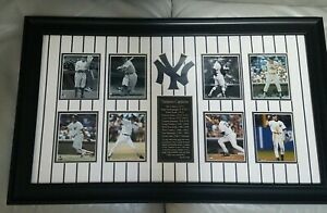 """NY YANKEES CAPTAINS DISPLAY; LEGACY IN POWER BRONX BOMBERS 29.5"""" x 18"""" BLACK"""