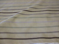 Beige & Purple Hue Stripes Linen Blend Heavy Upholstery Fabric. By NEXT