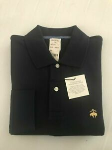 NWT BROOKS BROTHERS 1818 MEN L/S PERFORMANCE POLO SLIM FIT NAVY SZ  SMALL $69.50