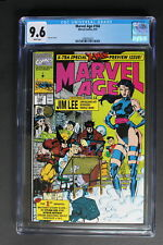 MARVEL AGE #104 JIM LEE Interview Profile Art 1991 1st Marvel MUTANT CGC NM+ 9.6