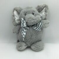 "Bearington Baby Collection Gray Elephant Plush Soft Toy 7"" Stuffed Animal"