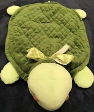 Bearington Baby Collection Turtle Play Time Blanket Green With Polka Dot Bow