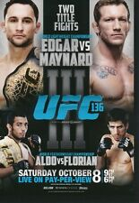 FPR-UFC 136 2015 Topps UFC Chronicles FIGHT POSTER PREVIEW card