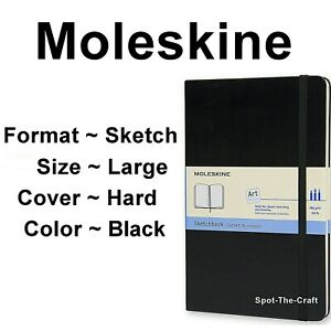 Moleskine Sketchbook Sketch Book Art Large Black Hard Cover