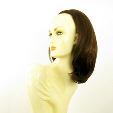 DT Half wig HairPiece chocolate poly mesh copper 15.7 :21/6h30