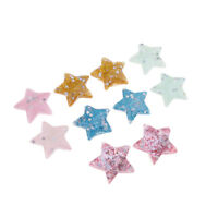 10X Mixed Colors Resin Star Flatback Cabochons for Scrapbooking Hair Bow DIY