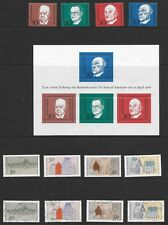 GERMANY PAGE OF 21 + M/S; MINT (13) & USED (7) SETS; INCLUDES BERLIN.
