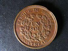 LC-5A5 Un Sou token Lower Bas Canada Quebec Banque du Peuple Breton 715