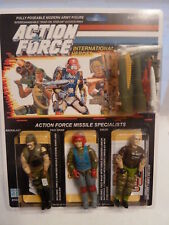 Action force/Gi Joe Missile Specialist Backblast, Fast Draw, Salvo, MOC cardées